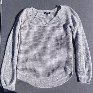 Gray knit sweater